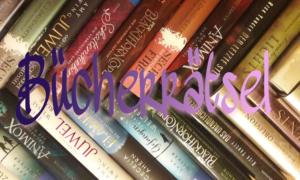 Das Titelbild für das monatliche Rätsel. Bücherrätsel