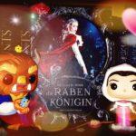Collage von Die Rabenkönigin mit Disney Funkos