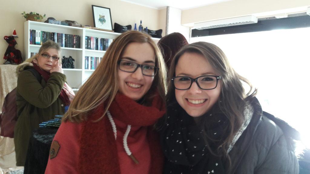Karina und ich auf dem Winterfest